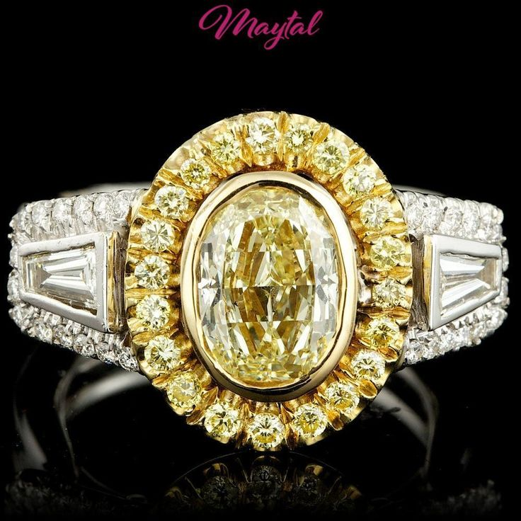 MAYTAL JEWELRY $47200 CERTIFIED 18K MULTI-TONE GOLD 2.5CT DIAMOND RING #MAYTALJEWELRY #Cocktail #Engagement