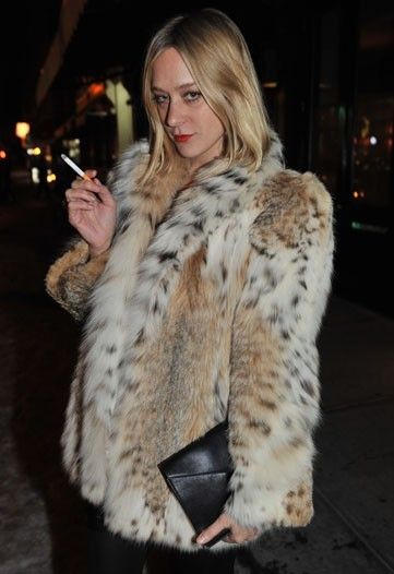 Chloe Sevigny. It would be a damn shame if I lived this long as a blonde and didn't invest in some fab faux fur.