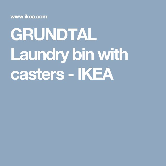 GRUNDTAL Laundry bin with casters - IKEA