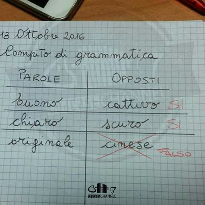 compito di grammatica :)
