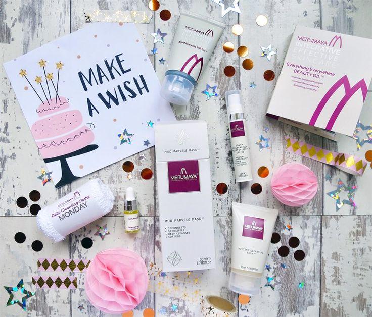Merumaya Gift With Purchase for 5th Birthday. British Skincare Brand. Merumaya Free Gift