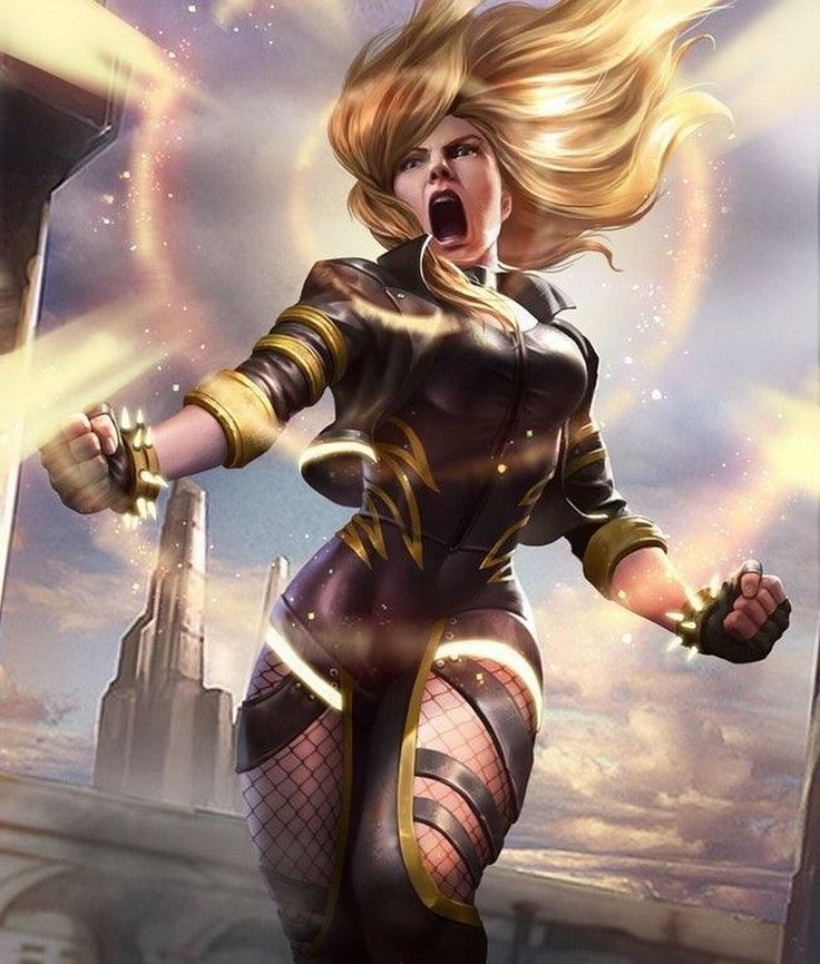Black Canary. Looks like an Injustice 2 design but I can't be 100% certain