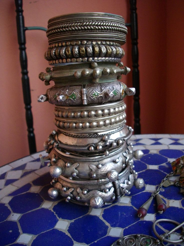 Berber Bracelets from the private collection of Marta Mahaila.  Purchased during her trip to Morocco.
