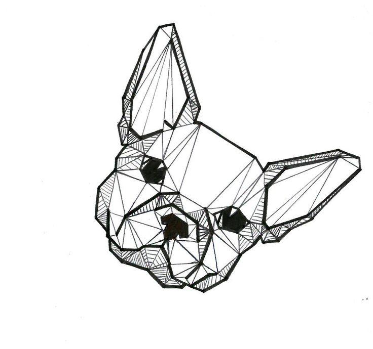 Resultado de imagen para bulldog geometrico