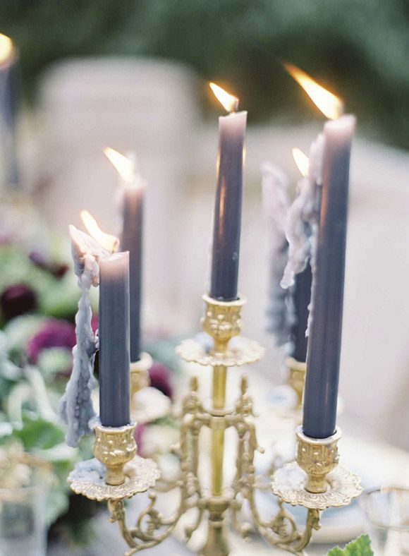 Like not-white candles. | Elegant old world wedding inspiratio | Zosia Zacharia Photography