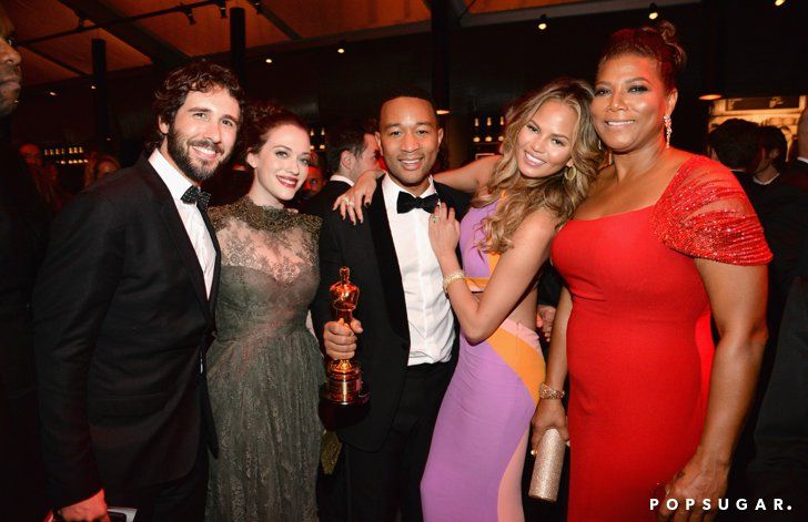 Pin for Later: The 55 Best Pictures From the Oscars! Josh Groban, Kat Dennings, John Legend, Chrissy Teigen, and Queen Latifah