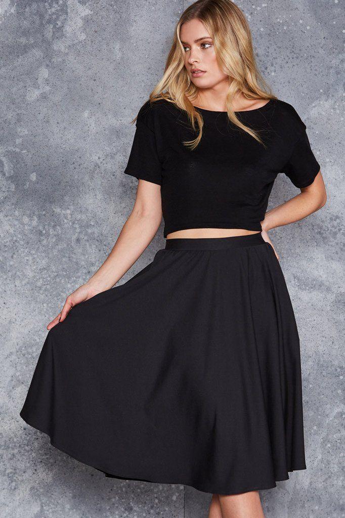 Class Act Pocket Midi Skirt