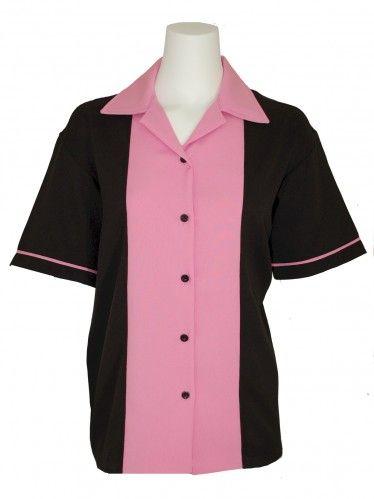 Ladies 50's Bowling Shirt ~ Classic 50's