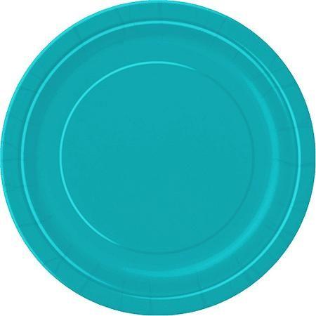 "9"" Teal Dinner Plates, 20ct - Walmart.com"