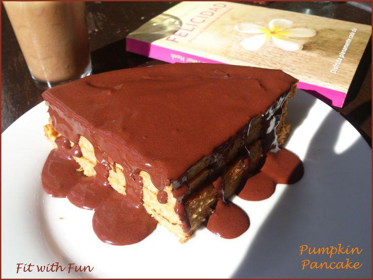 Pumpkin Heakthy Pancake with Chocolate Easy Cream 🍫 Pancake Morbidi alla Zucca…