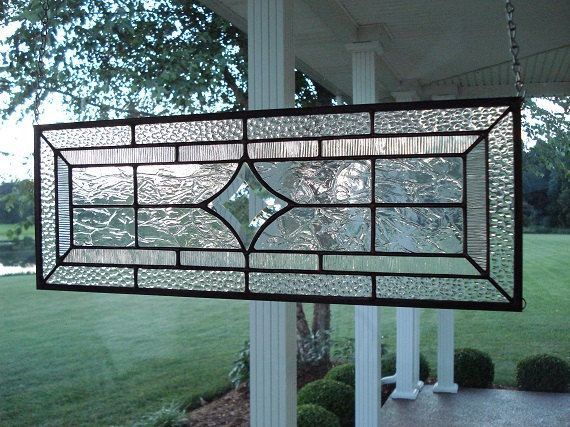 Stained Glass Window Panel Transom Aqua by TheGlassShire on Etsy                                                                                                                                                                                 More