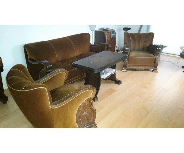 sofa gruppe antik, 40 år gl., Antik sofa gruppe med bord.