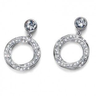 Earring Twirl rhod. crystal #OliverWeber