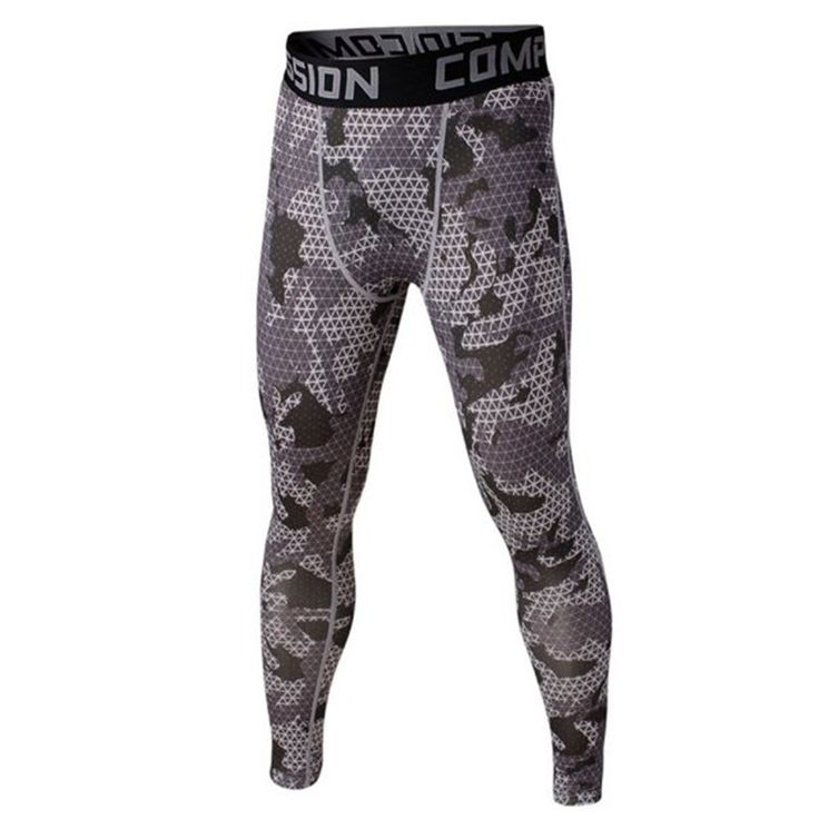 Men Compression Pants Leggings Base Layer Fitness Long Tights Pants Camo Print Sport Trousers Quick Dry Jogging Running legging