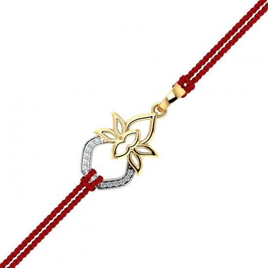 Kalash Gold Rakhi Pendant.A kalash shaped rakhi made of gold and diamonds is as spiritual as it gets. Gift this divine rakhi cum pendant to your brother and he will treasure it for life. #Rakhi #GoldRakhi #GoldandDiamond #RakhiCumPendant #RakhiGift #GiftforBrother #SpecialRakhiGift #RakshaBandhan #18thAugust #RakhiCelebration #BrotherSisterBond #TraditonalRakhi #Kuberbox #ShopRakhiOnline #OnlineJewellery