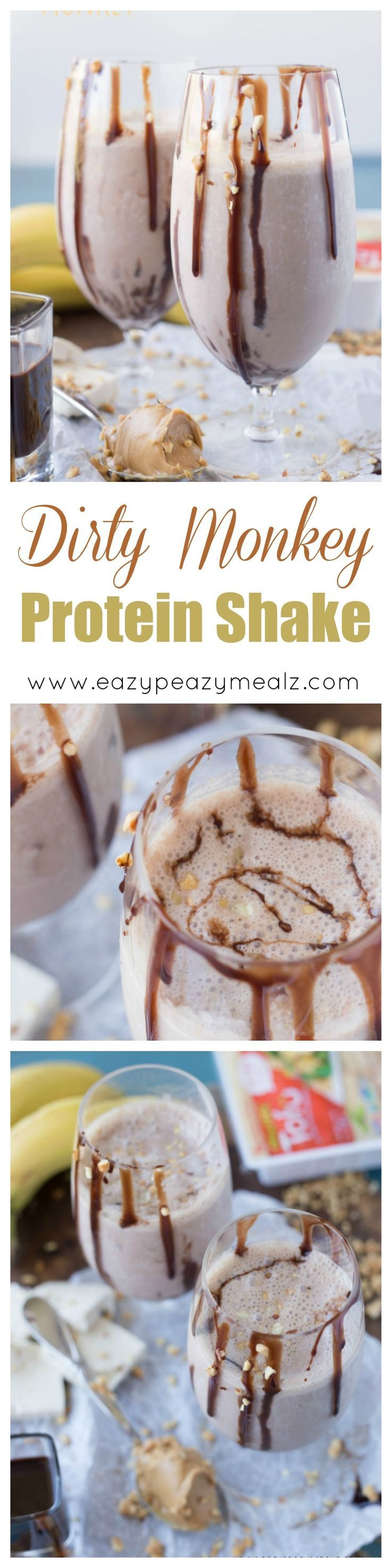 A protein shake packed with flavor, and creamy enough to be a milkshake! You will think you are drinking a chocolate milkshake when in reality you are getting something healthy and delicious. #ad - Eazy Peazy Mealz