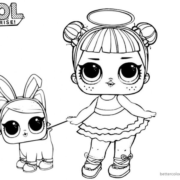 Lol Coloring Pages Sugar With Two Pet Dolls Free Printable Coloring Pages In 2021 Coloring Pages Free Printable Coloring Free Printable Coloring Pages