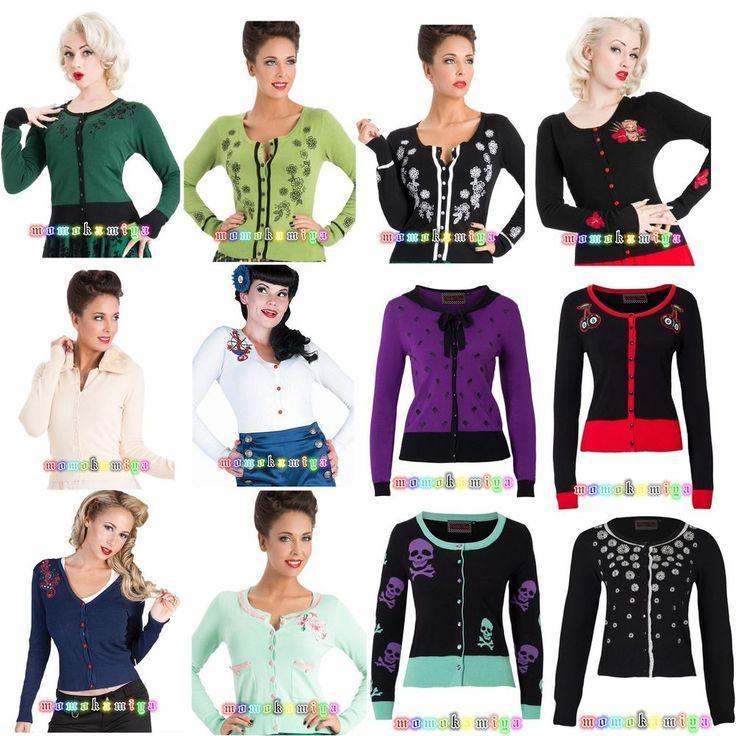 Voodoo+Vixen+Jawbreaker+Women+Vintage+Cardigan+Top+Rockabilly+50'S+Cardi+Style.++#VOODOOVIXENJAWBREAKER+#Cardigans