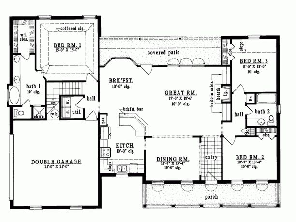 Plain country house plans