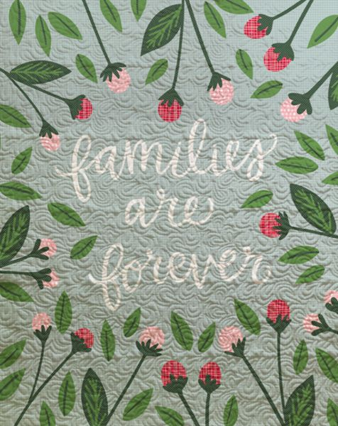 Quilts are all about feeling safe and full of love. Whether you use this to keep you warm, decorate your room, or as a wall hanging, this quilt is the most lovely way to remind everyone of the love th