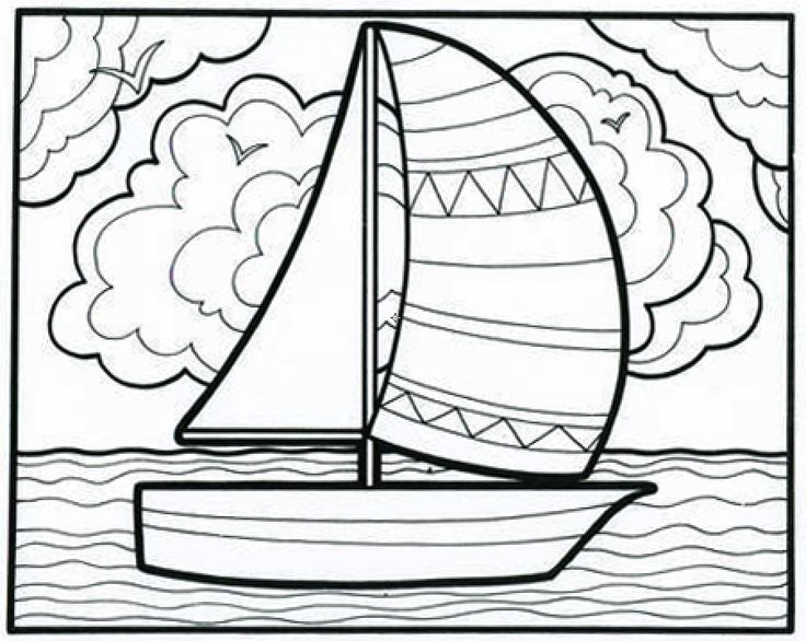 It's A Smoooooth Sailboat Coloring Book Page From Our