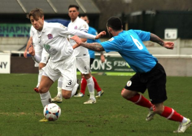 Hednesford Town 2, AFC Fylde 0 Late goals by James Hurst and Richard Batchelor condemned Fylde to defeat.