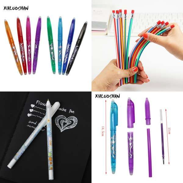 10PCS GENKKY Gel Pen Refill For Metal Gel Pens Shool Office 0.5mm  Suitable For