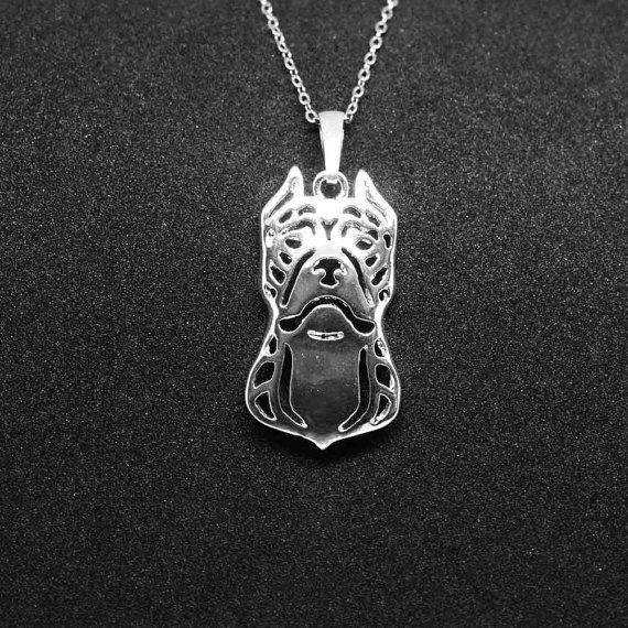 American staffordshire terrier jewelry pendant - sterling silver - Custom Dog Necklace - Pet Memorial Gift - Dog Mom Gift - Pet jewellery by jewelledfriend. Explore more products on http://jewelledfriend.etsy.com