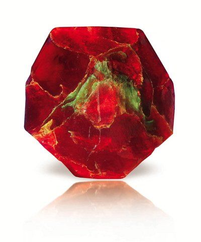 Schöne Kristallseife Badeseife Seife Roter Granat (Duft: Cranberry) auch geeignet für: die sanfte Rasur, waschen von kurzen Haaren, geeignet...