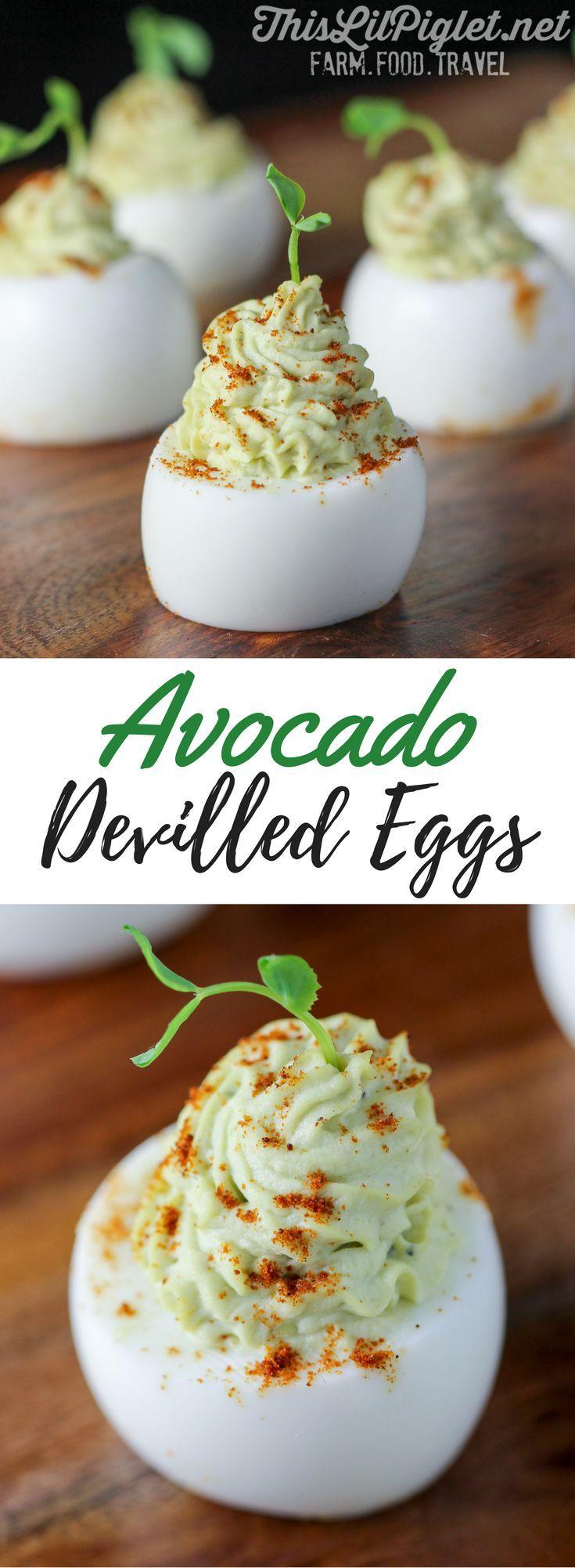 Avocado Devilled Eggs // via @thislilpiglet