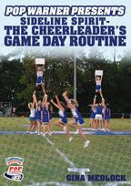 Pop Warner Presents Sideline Spirit - The Cheerleader's Game Day Routine - featuring Pop Warner Coach Gina Medlock and the Normandy Athletic Association in Jacksonville, FL  This Pop Warner Cheerleading presentation is designed to help cheer coaches and squads leave no stone unturned detailing all things game day! What makes this DVD unique is that it follows Gina Medlock's Pop Warner cheer squad though an actual Pop Warner game day.