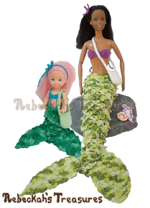 Are your mermaid fashion dolls looking for an adventure? Why not crochet them…