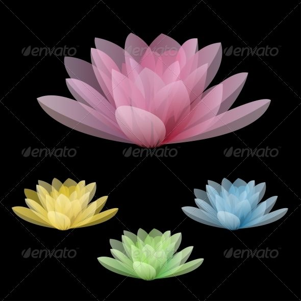 Lotus Flowers #GraphicRiver Lotus flowers isolated on a black background. Vector illustration Created: 12November13 GraphicsFilesIncluded: PhotoshopPSD #JPGImage #VectorEPS #AIIllustrator Layered: Yes MinimumAdobeCSVersion: CS Tags: art #background #beautiful #blue #cartoon #decor #decoration #decorative #design #drawing #flora #floral #flower #graphic #green #icon #illustration #lily #lotus #nature #petal #pink #silhouette #spa #summer #symbol #vector #water #waterlily #yellow