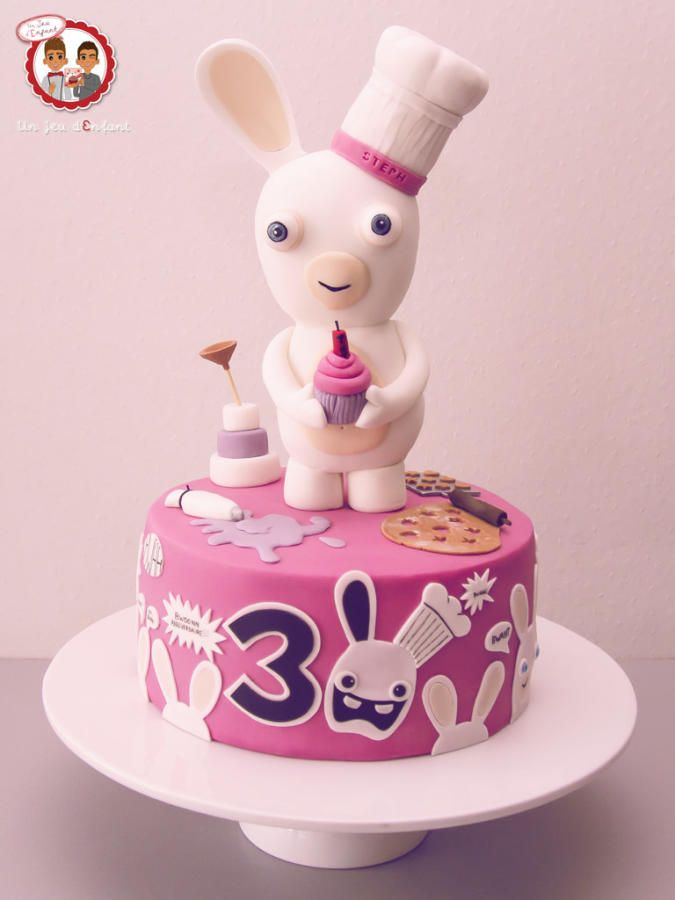35 best rabbids cakes images on pinterest anniversary - Gateau lapin cretin ...