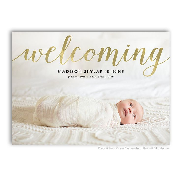 Etsy Birth Announcement Photo Cards | POPSUGAR Moms