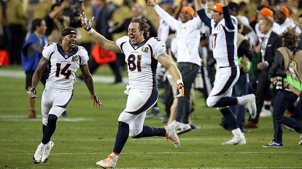 Los Denver Broncos vencieron este domingo a los Carolina Panthers con marcador de 24-10 y se alzaron con el Super Bowl 50 de la NFL, conducidos por la gran experiencia de su mariscal de campo Payton Manning. Feb 2016.