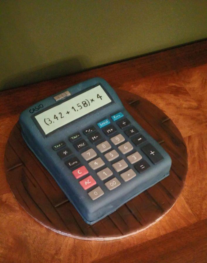 Calculator-casio - Cake by nef_cake_deco