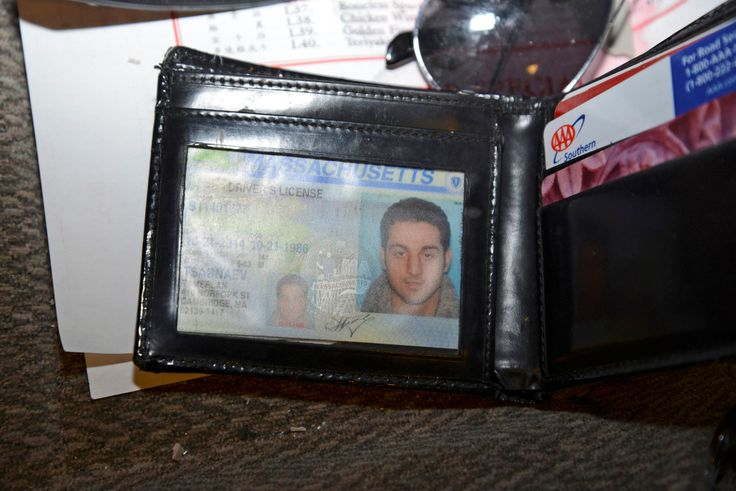 A wallet containing the drivers license for Tamerlan Tsarnaev is seen in a still handout image enter... - U.S. Attorney's Office/Reuters