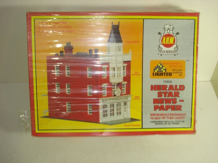 HO Model Building AHM City Storefront HERALD STAR NEWSPAPER  FREE SHIPPING