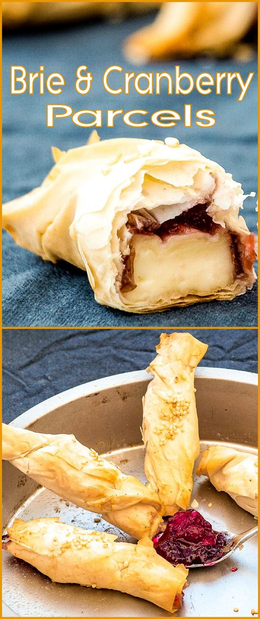 Simple and Delicious Festive Brie and Cranberry Parcels. Ideal for any holiday buffet.