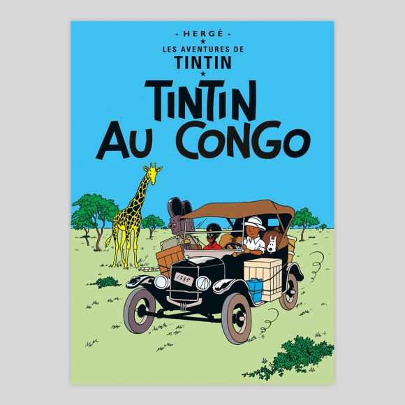 Tintin Au Congo art print | hardtofind.