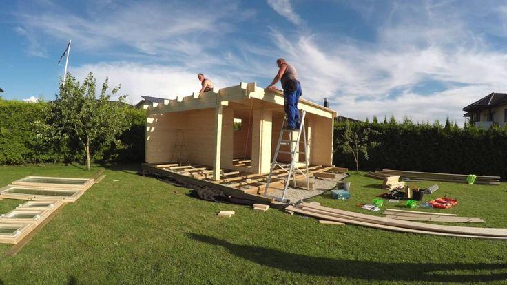 Gartenhaus selber bauen (Montage). Selbstmontage eines