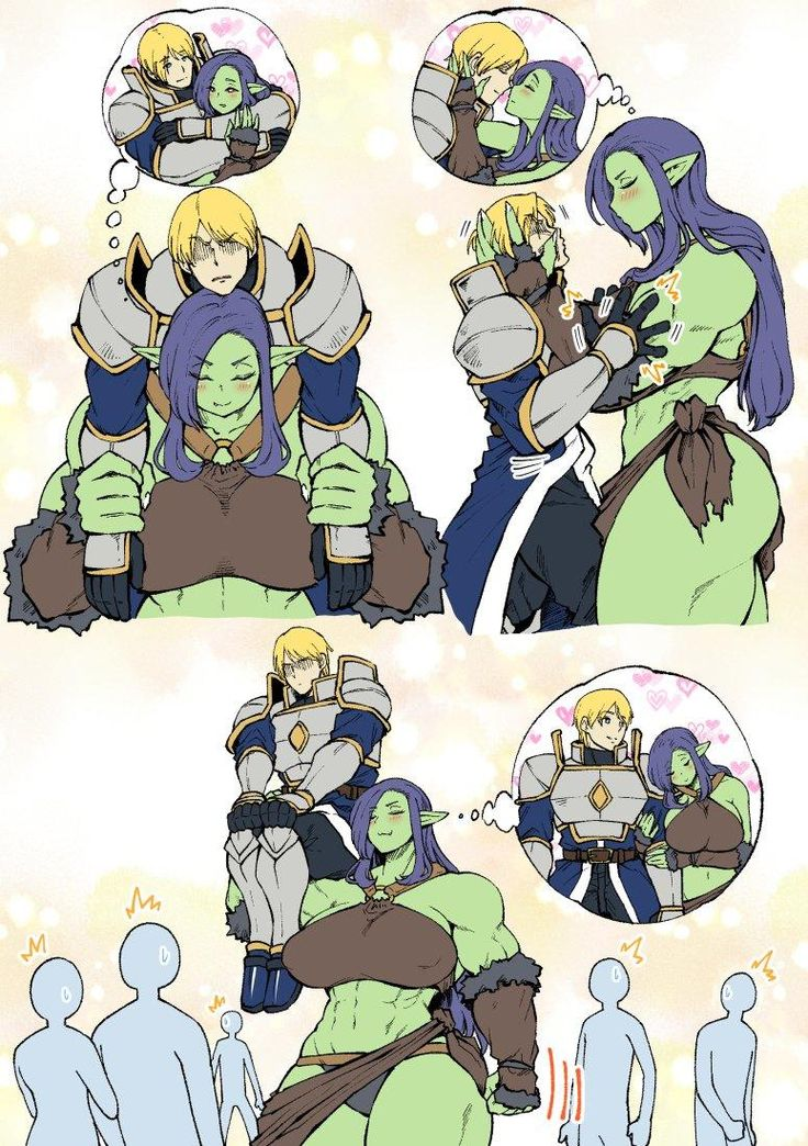 Orc-San And Knight  Adorable Stuffage  Anime Monsters -9000
