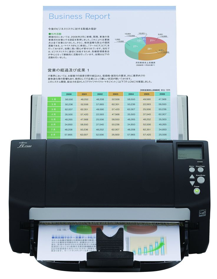 fi-7180 - Dokumentenscanner - Duplex. 80 ppm / 160 ipm in Color, Grayscale, and Monochrome @ 200/300 dpi. 80-page Automatic Document Feeder (ADF). Dual color charge coupled device (CCD) image sensor. ntelligent multi-feed function capability (Bypass). Bundled with PaperStream IP (TWAIN/ISIS), Bundled with ScanSnap mode (Add-in) software.