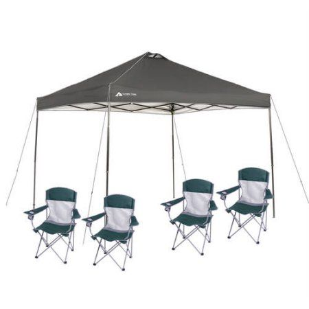 Ozark Trail 10x10 Canopy with 4 Basic Mesh Chairs Value Bundle Gray  sc 1 st  Pinterest & The 25+ best 10x10 canopy ideas on Pinterest | Camping canopy ...