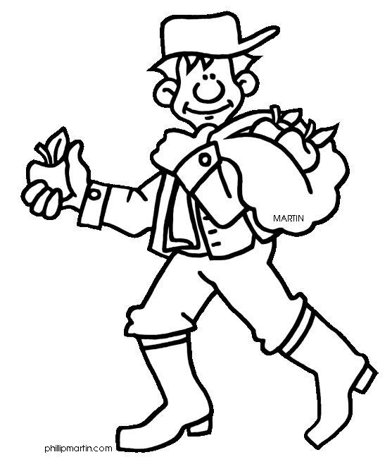 Coloring Pages Johnny Appleseed : Johnny quot appleseed chapman coloring sheet school