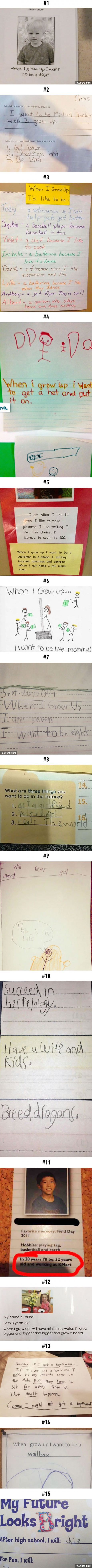 15 Hilarious Kids Who Have Their Life Goals Totally Figured Out... Kind Of
