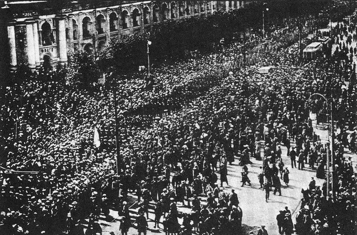 Russian Revolution in 1917 before the fall and the end of an era.