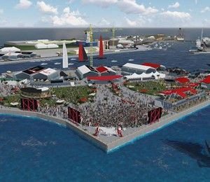 """The Royal Naval Dockyard, with its magnificent setting and rich maritime history, will be the location for a new America's Cup Village, home base for racing teams and spectators alike. A vibrant restoration in the Dockyard's South Basin will incorporate state-of-the-art facilities for the teams as well as a first-ever """"pit row"""" fan experience for the public."""