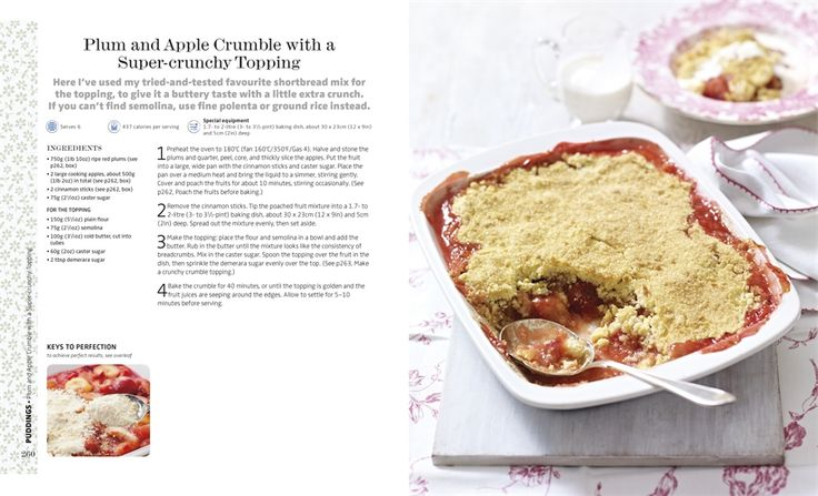 Mary Berry Cooks The Perfect Plum and Apple Crumble - yum! - Mary Berry - Dorling Kindersley #PinthePerfect #MaryBerry